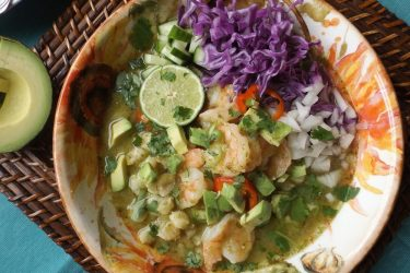 Posole Verde de Camarón (Shrimp Posole), photo by Sonia Mendez Garcia