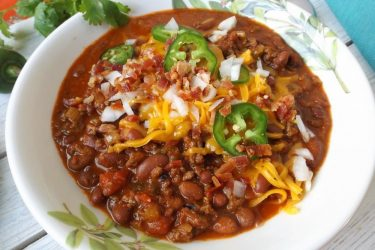 Fire-Roasted Beef Chili with Chorizo, photo by Sonia Mendez Garcia