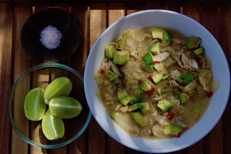 Chicken Cabbage and Lime Soup