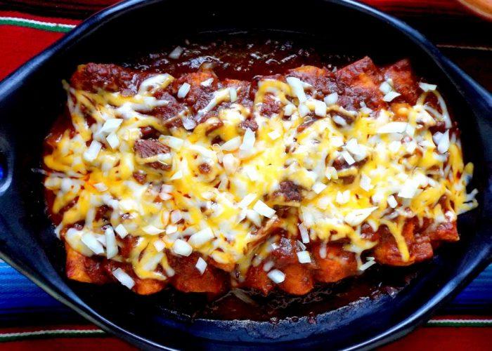 Brisket Enchiladas (Truck Stop Enchiladas), photo by Sonia Mendez Garcia