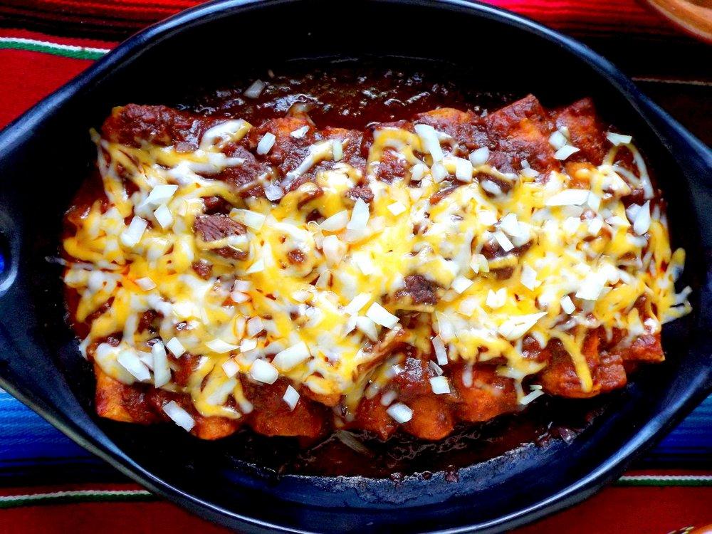 Tex Mex Brisket Enchiladas