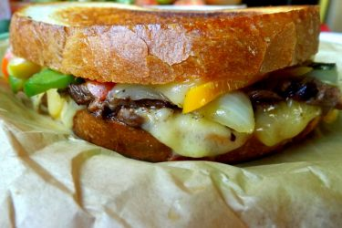 Beef Fajita Grilled Cheese Sandwich, photo by Sonia Mendez Garcia