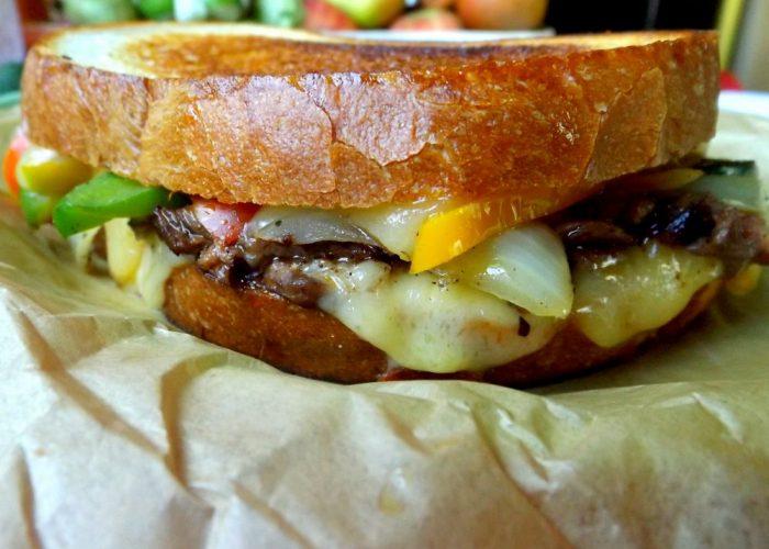 Beef Fajita Grilled Cheese Sandwich, photo by Sonia Mendez Garcia