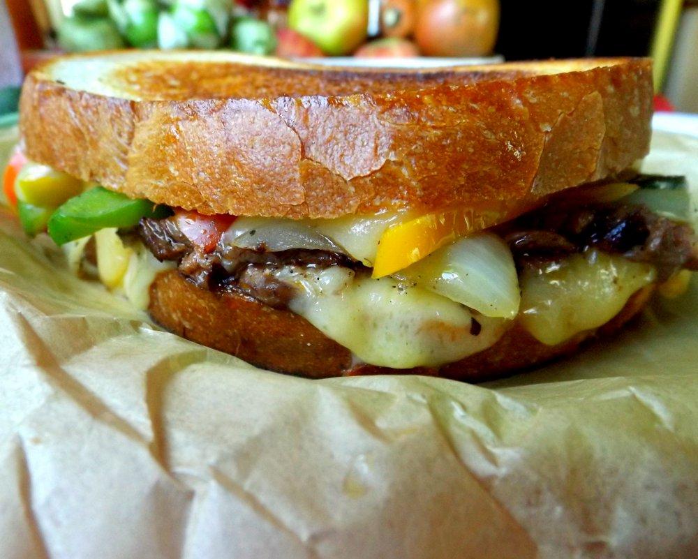 Beef Fajita Grilled Cheese Sandwich