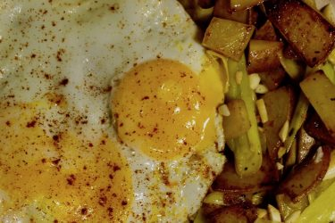 Garlic Potato And Leek Hash, photo by Jennifer Rice