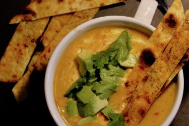 Roasted Butternut Squash Soup With Crispy Tortillas, photo by Jennifer Rice