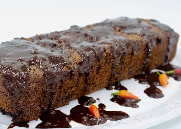 Cayenne Chocolate Cake With Chocolate Drizzle, photo by Jennifer Rice