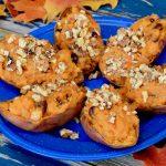 Apple and Walnuts Stuffed Sweet Potatoes