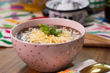 Chicken and Creamy Black Bean Soup Recipe