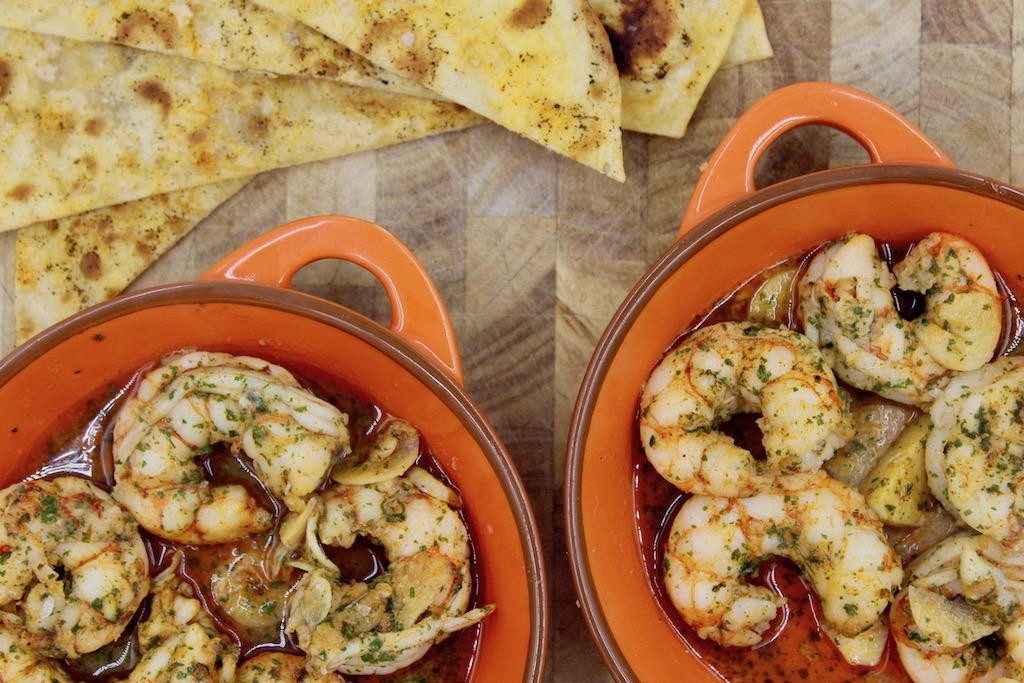 Spanish Sizzling Garlic Prawns