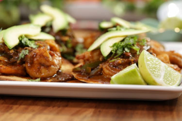 Chili Shrimp and Avocado Tostadas Recipe