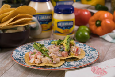Shrimp Ceviche Tostadas, photo by Hispanic Kitchen