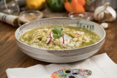 Crockpot Salsa Verde Chicken Pozole, photo by Fernanda Alvarez