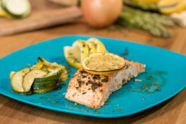 One-Pan Baked Salmon With Lemon-Chipotle Butter Sauce, photo by Hispanic Kitchen