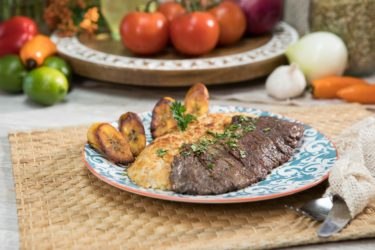 Peruvian Tacu-Tacu With Churrasco (Skirt Steak), photo by Hispanic Kitchen