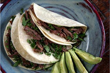 Beef Brisket Tacos, photo by Hispanic Kitchen