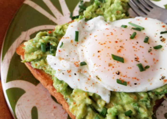 Simple Poached Egg and Avocado Toast, photo by Catherine Arena