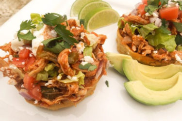 Chicken Sopes, photo by Catherine Arena