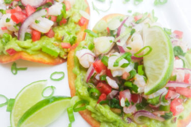 Shrimp Ceviche Tostadas, photo by Catherine Arena