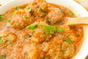 Albondigas en Salsa de Chipotle (Meatballs in Chipotle Sauce), photo by Catherine Arena