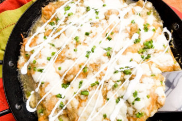 Cheesy Beef Enchiladas In Green Sauce, photo by Catherine Arena