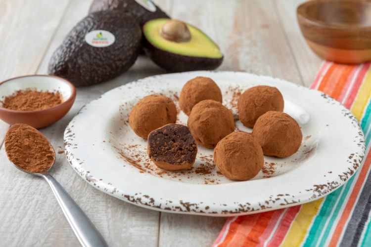 Avocado, Chile and Dark Chocolate Truffles, photo by Avocados From Mexico