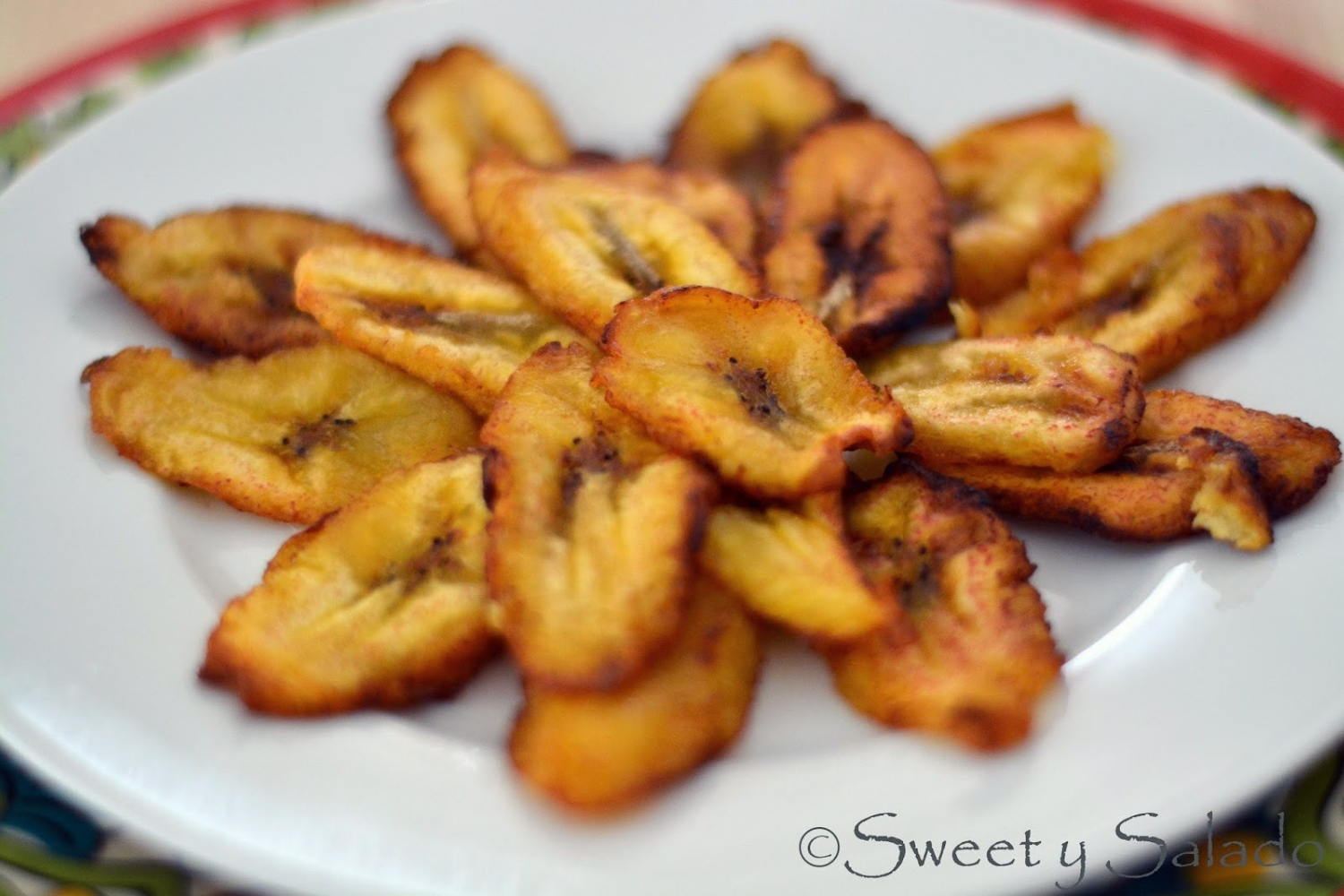 Sweet Plantain Slices (Tajadas), photo by Hispanic Kitchen