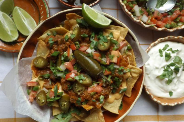 Chile Morita Beef Nachos With Spicy Queso, photo by Hispanic Kitchen
